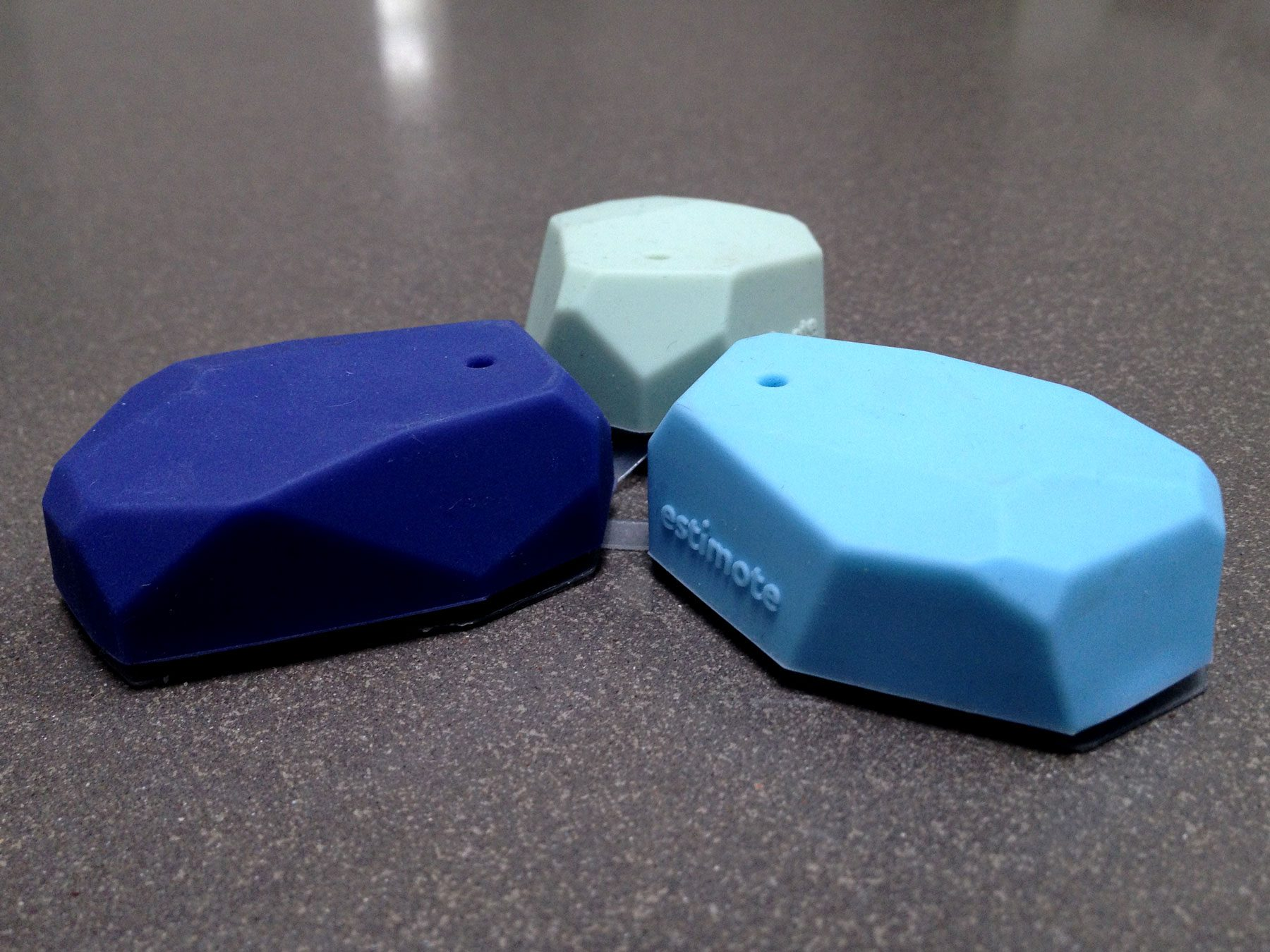 3 iBeacons shown in close up