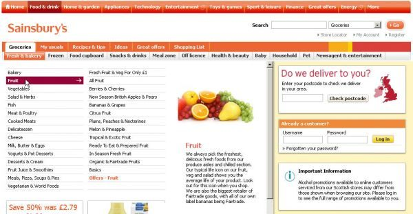 Click 2: Fruit section