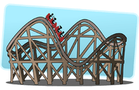 Image of a rollercoaster
