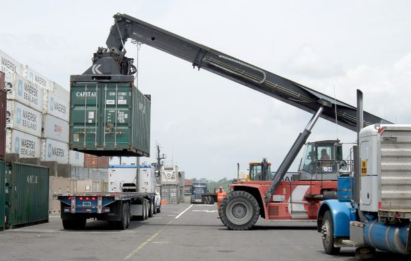 Image of container being lifted