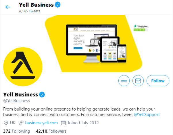 Yell Business's Twitter Profile