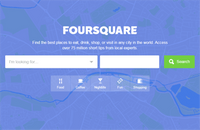 Image of Foursquare website