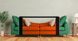 Image of sofa and smart phone