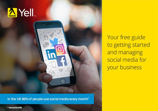 Social media guide for businesses from Yell cover