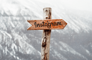 Sign saying Instagram