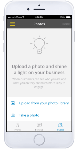Yell for Business app - business photos