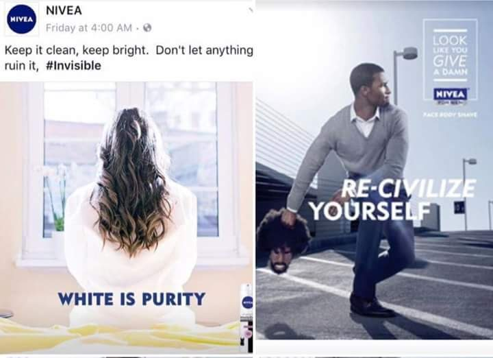 Nivea 'White is purity' ad