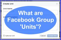 What Are Facebook Group Units?