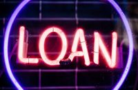 Neon sign saying 'Loan'