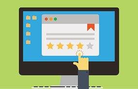 Illustration of online review