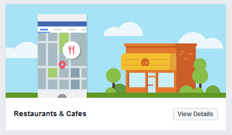 Facebook Page Template Restaurants