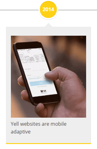 2014 - Yell websites are mobile adaptive