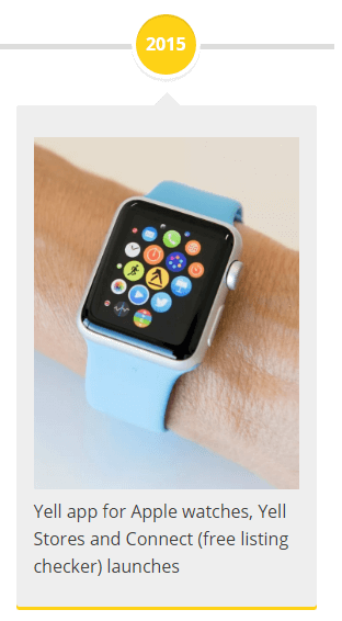 2015 - Yell app for Apple watches, Yell Stores and Connect (free listing checker) launches