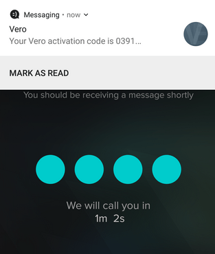 Vero user verification