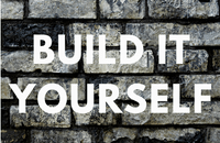 Build it yourself on brick background