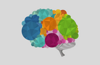 Colourful abstract brain illustration