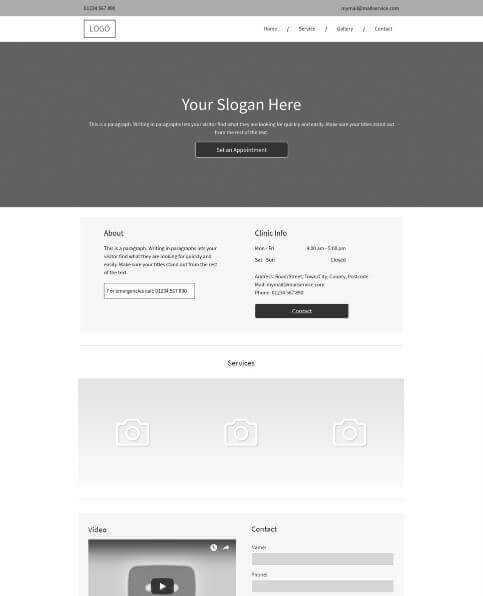 Blank services template