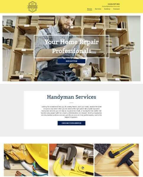 Yell FREE business website template 2