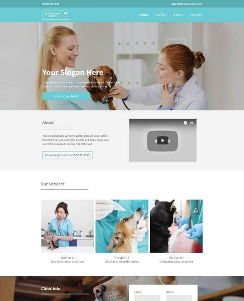Yell FREE business website template 1