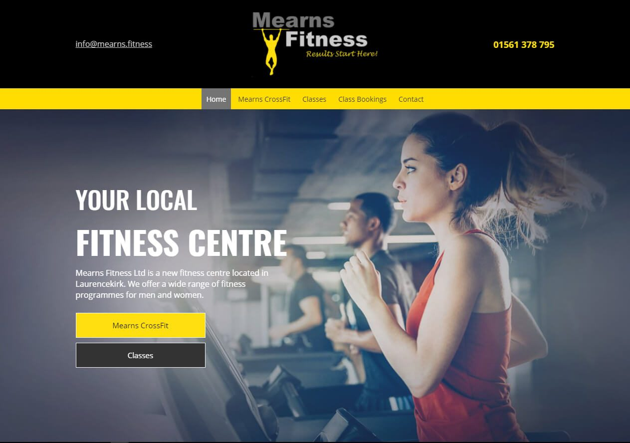 Mearns fitness plus Website example from Yell