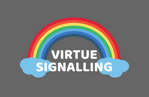 Virtue signalling - Pride rainbow