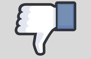 Facebook dislike thumbs-down