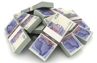 Image of bundles of £20 notes