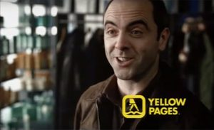 Image of James Nesbitt from old Yellow Pages TV advert