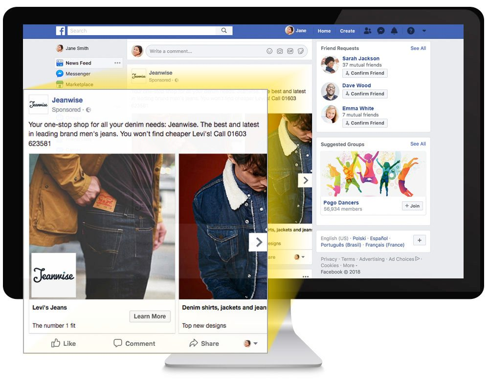Social Adverts - tool for facebook advertising