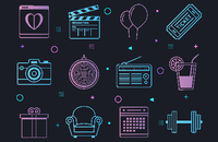 Image of party themed icons