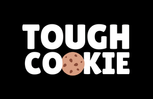 Graphic saying tough cookie